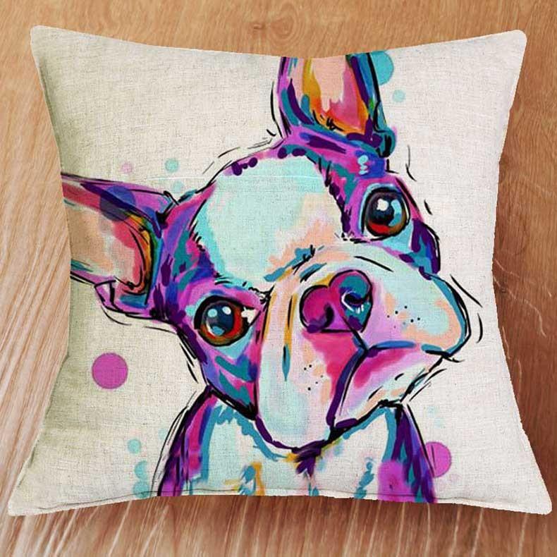 dog cushion too cute house design idea deco gift bulldog