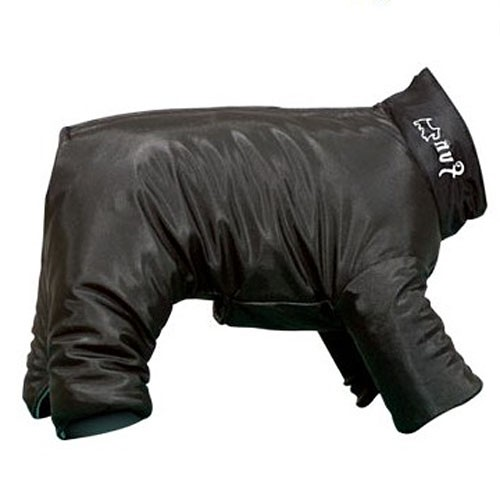 Raincoat with paws for dog against the rain black classic cheap free delivery