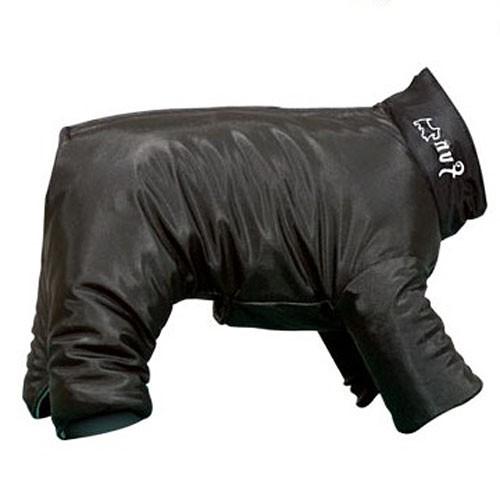 Imperméable à pattes pour chien contre la pluie noir pas cher classique livraison offerte