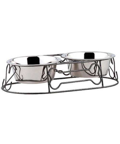 food and water bowls-dogs-cats-heart-stainless-steel-design-os-core