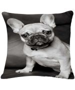 cushion bulldog black and white for interior and contemporary design cheap