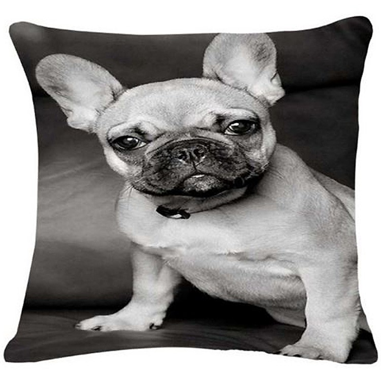 cushion bulldog black and white for interior and contemporary design cheap