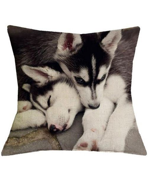 cushion deco house husky too beautiful linen free delivery original gift