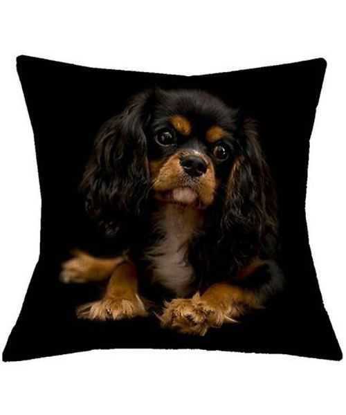 cushion king charles for deco home bedroom design black linen superb quality