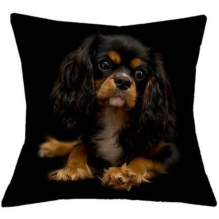 cushion king charles for deco home bedroom design black linen superb quality