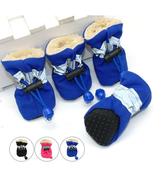 Ankle boots winter for large dog warm and waterproof