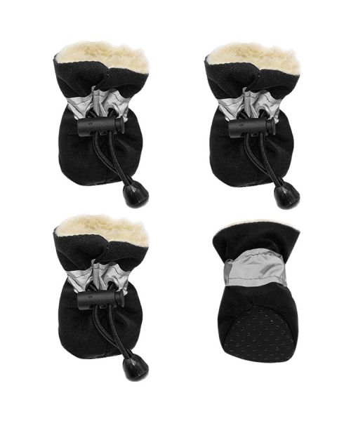 bottines noires pour chiens pas cheres chaude pour la neige