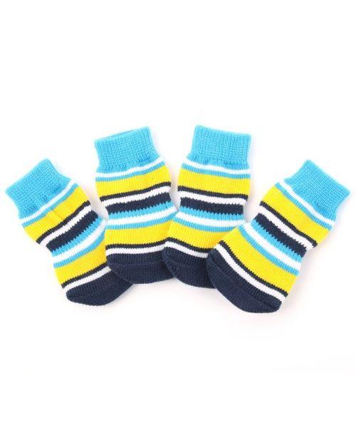 chaussette pour chiens et chats livraison offerte bleu et jaune acidulé