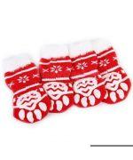 Chaussettes pour chien et chat rouge Noël pour protéger les pattes de mon animal l'hiver