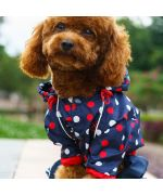 Cheap dog raincoat with original paws