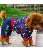 rain coat for dog with paws