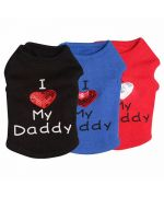 T-shirt I Love My Daddy or mommy dog and cat shipping to Paris, Montpellier, Marseille, Ajaccio, Poro-vecchio, Bastia...