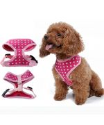 dog harness pink harness white stars