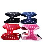dog harness original black with stars