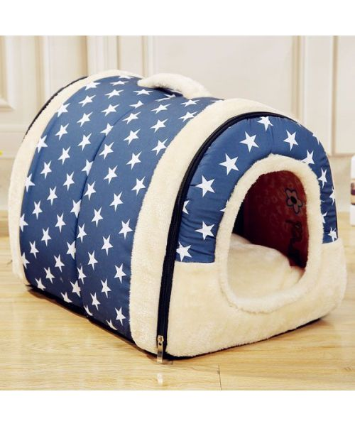 Small soft bed for cats and dogs Grey