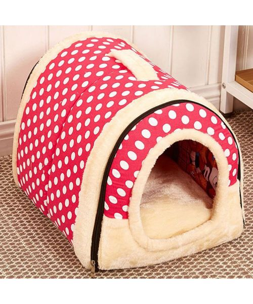 bed in the shape of a house for red dog