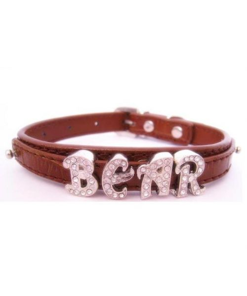 dog collar custom letter rhinestone cheap original gift for dog Marseille Paris Montpellier
