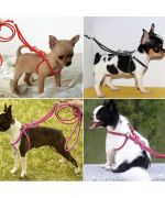 dog harness pink rhinestone step-in cheap free shipping