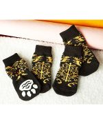 Lot of mens socks for dogs and cats blue and yellow
