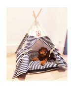 teepee pour chien chat chihuahua marin rayé trop mignon marseille
