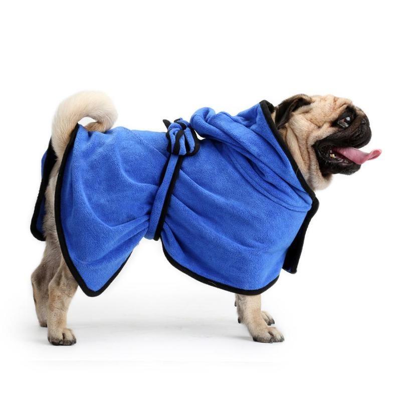 Peignoir pour chien microfibre petit grand chien labrador bichon chihuahua caniche westie carlin blouledogue francais
