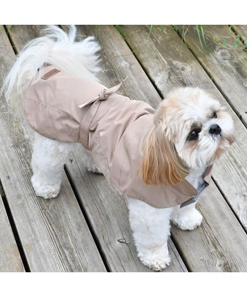 raincoat for dog-beige-marseille-paris-alps-brittany-nantes-montpellier