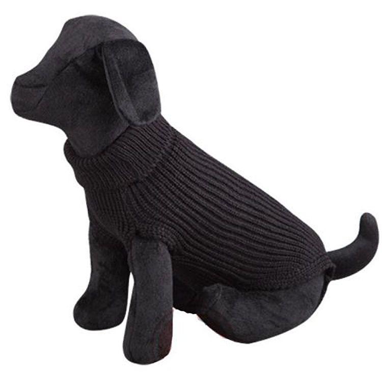 black woolen dog sweater cheap cute classic practical boutique reunion island martinique dom tom