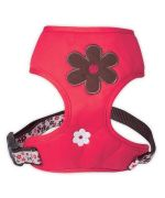 harness-harness-flowers-red-for-dog delivery to reunion, martinique, guadeloupe, dom-tom