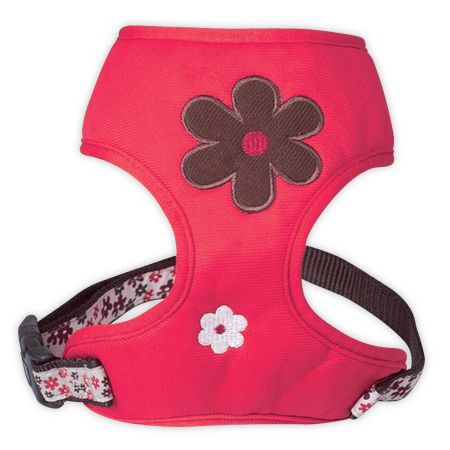 red-flower-harness-for-dog delivery Reunion Island, Martinique, Guadeloupe, Dom Tom