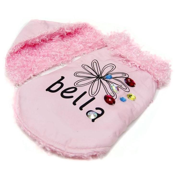 Manteau rose pour chien chic et luxe sur boutique de marque pour petits animaux de compagnie