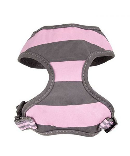 harness marine dog pink and light grey delivery to reunion, martinique, guadeloupe, dom-tom