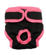 panties for small dog black with practical velcro closure delivery martinique, guadeloupe, reunion, saint barthelemy