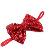bow tie red glitter sequins pet small dog big dog cat puppy