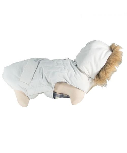 down jacket for dog white trend fashion beautiful white coat small dog, large dog guadeloupe reunion