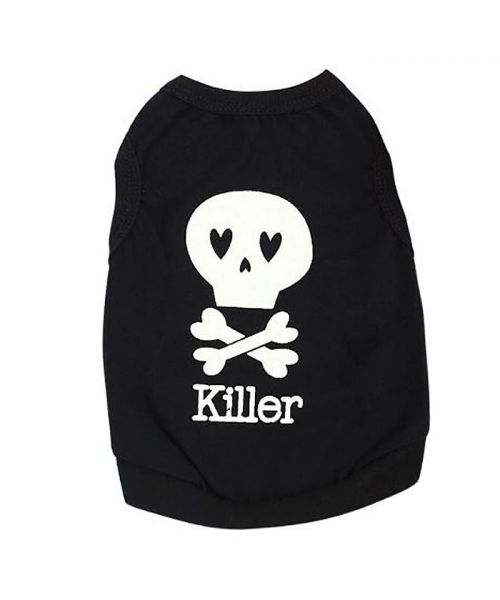 t-shirt for small dog fun fun tenda,this head death skull halloween cheap