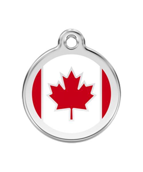 médaille-pour-chien-chat-drapeau-canada-livraison-gratuite-boutique-gueule-damour