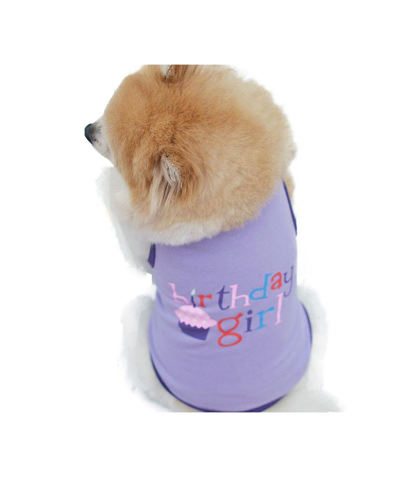 Accessories For Dog Original Birthday Tee Shirt Dogs Cats Happy Birtday