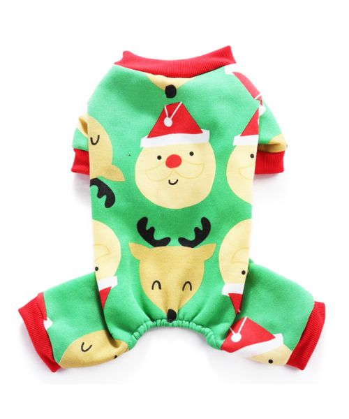 Christmas Pajamas For Dog.Pajamas For Dog Christmas Green