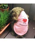 tshirt pour chat rose pour anniversaire mariage noel amour love maman papa