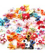 Bow with elastic fastening for small dogs cheap: blue, pink, red, rhinestones .. promotion mouth of love pet shop
