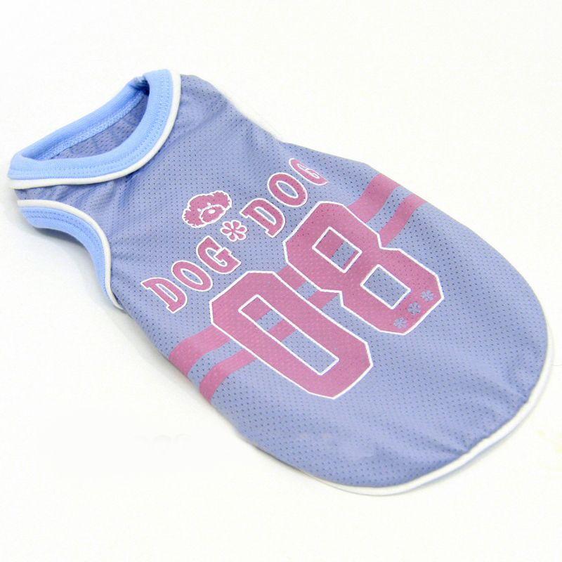 T-shirt pour chien sport basket fashion sans manche bleu clair rose clair mignon sur animalerie en ligne gueule d amour