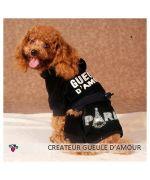 Vêtement écrit Paris en strass fashion en vente sur notre boutique en ligne de vêtements accessoires pour animaux de compagnie