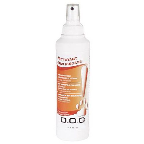 shampoo dry dog cleaning without rinsing made in France pet dog cat