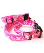 pink dog collar nylon clip camouflage quality low price mouth of love