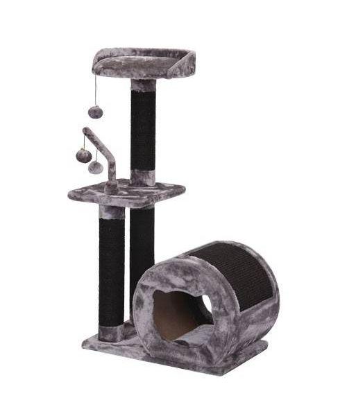 Arbre à chat Miaou - gris et noir