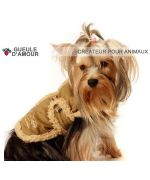 Beautiful coat for chienpas dear very hot for the hvier against the wind the rain the snow dog miniature size XXS