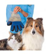 Boutique quality cat grooming glove mouth of love