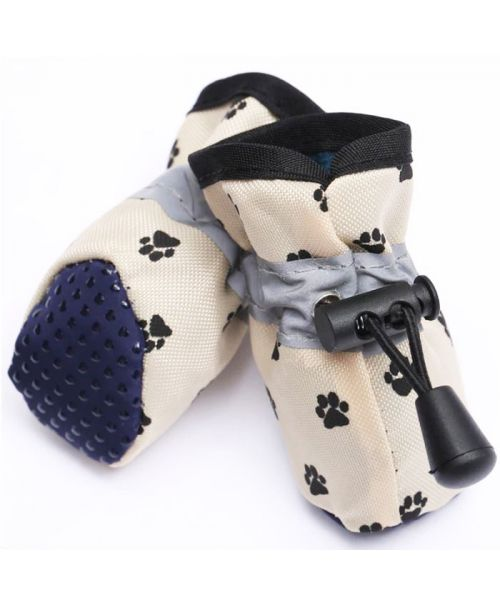 Shoes for dogs boots with fur - black