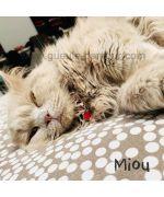 rhinestone cat pendant