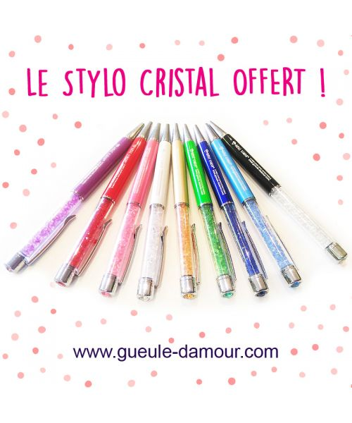 Collection of pens crystal
